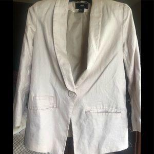 Blush H&M linen blazer